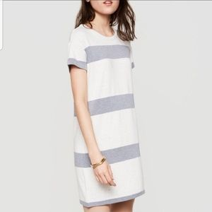 Lou & Grey Striped Sweatshirt French Terry Dress S